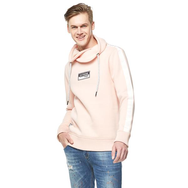 Crossover High Neck Sweatshirt - Pink