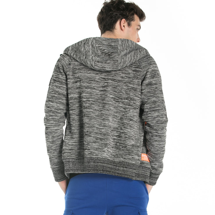 Heathered Knit Zip Hoodie