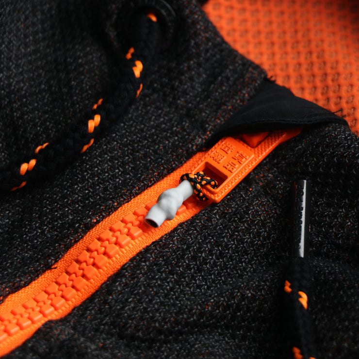 Orange Delight Zip Hoodie Jacket
