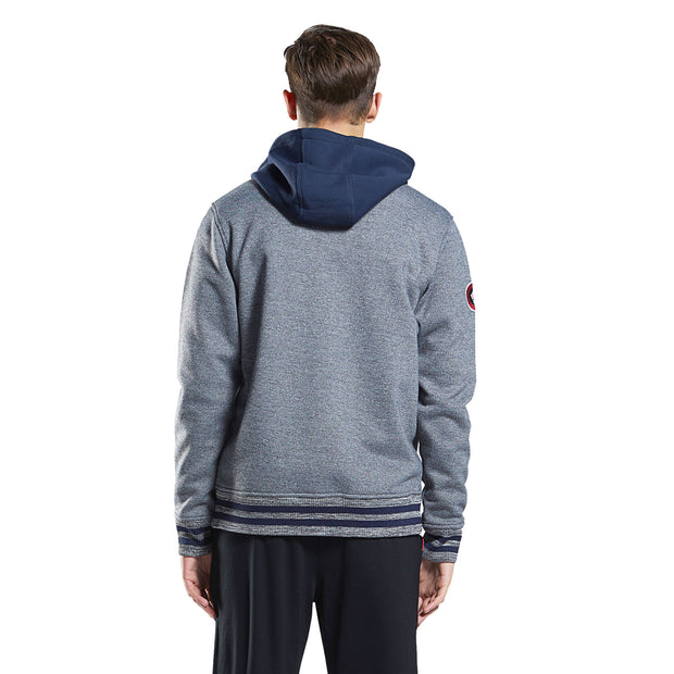 mens hoodie sweatshirt cotton bonded hooded zip-up outwear jacket