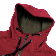 Textured Bonded Knit Hooded Jacket