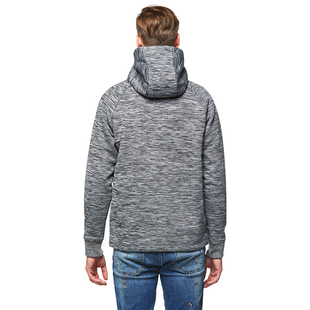 Space Dyed Bond Raglan Zippers Hoodie Sweatshirt