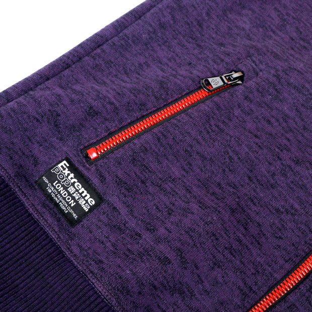 Slub Knit Bond Fleece Collar Jacket