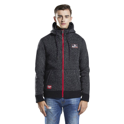 Mens Sherpa Jacket Woolen Knit bond