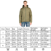 Men's Goose Down Glacier Puff Jacket - Khaki size S M L XL