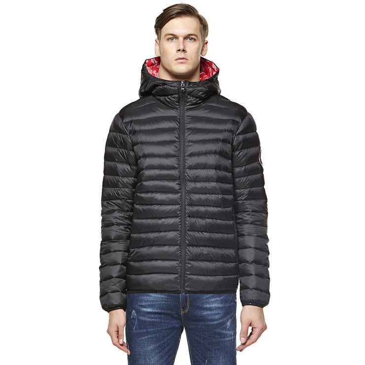Men's Goose Down Puff Jacket  Glacier - Black size S M L XL