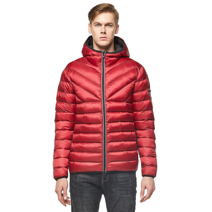 Men's Midnight Padded Jacket - Burgundy red