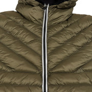 Midnight Padded Reflective Zip Jacket - Khaki
