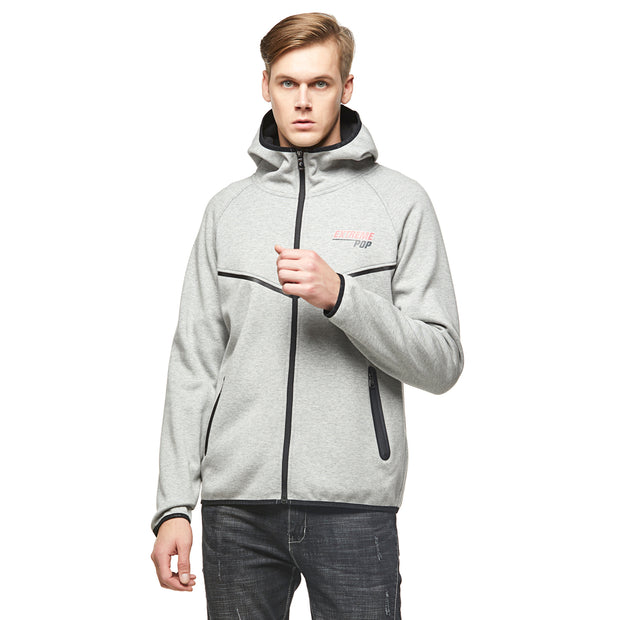 Cotton bonded Fleece Hooded jacket