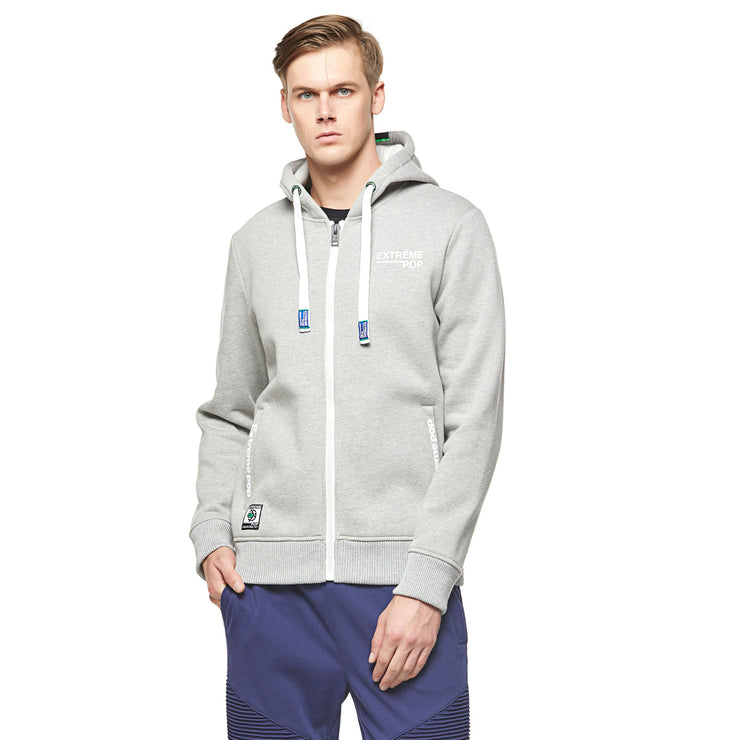 Ex-Back Zip-up Hoodie - Grey