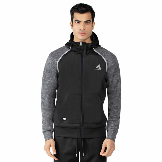 Men's Raglan Zip-Up Hooded Sweatshirts