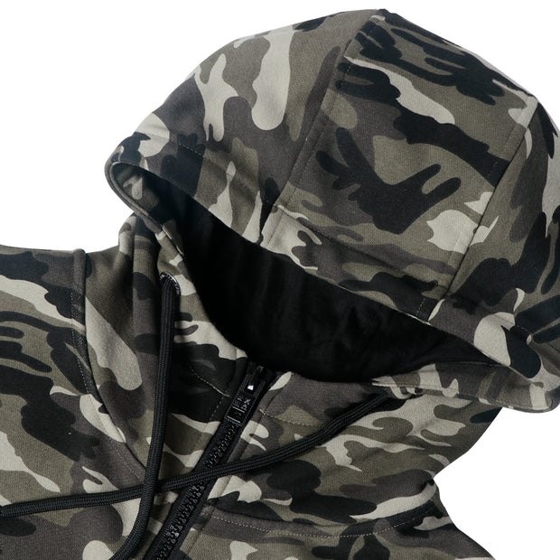 Mens Hoodie Full Zip Sweatshirts Camo Jacket size S M L XL
