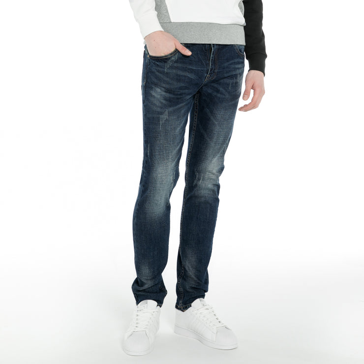 Skinny Stretch Fit Distressed Jeans