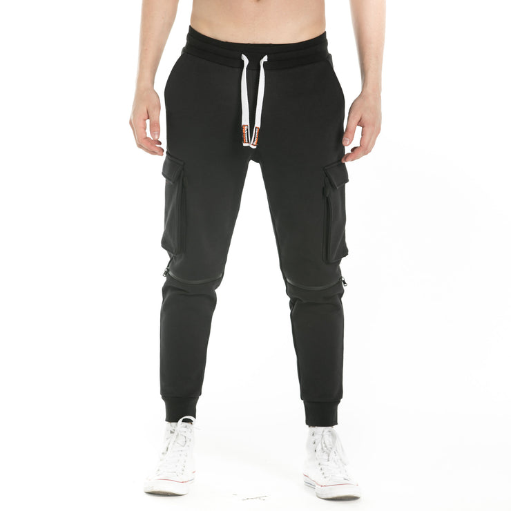 Marled Stretch Knit Baggy Joggers