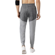 Men's Slim Fit Running Joggers Color Block Black Charcoal size S M L XL
