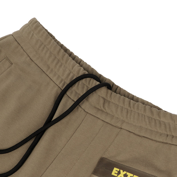 Extreme Pop Mens Cuffed Joggers Reflective Printed Running Pants UK Brand Grey KHAKI black size S M L XL