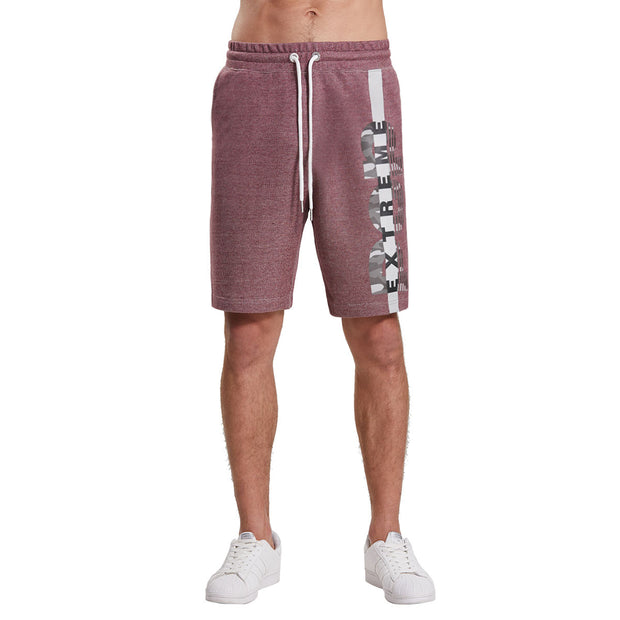 Extreme Pop Mens Printed Casual Shorts Two-Tone Terry Half Pants UK Brand