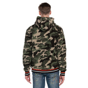 Men's Sherpa Hoodie Warm Applique Jumper Colours Black White Camouflage S M L XL