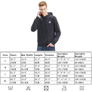 Mens Pullover Hoodie Denim Wash Terry Reflective Print Sweatshirts