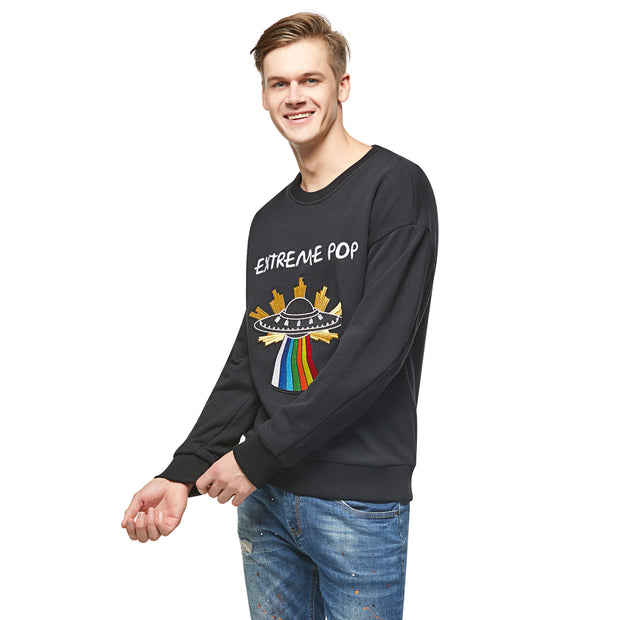 Men's Sweatshirt Starship French Terry - S M L XL Black