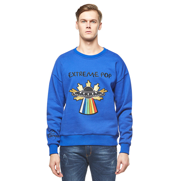 Starship Brushed Drop Shoulder Sweatshirt-Royal Blue