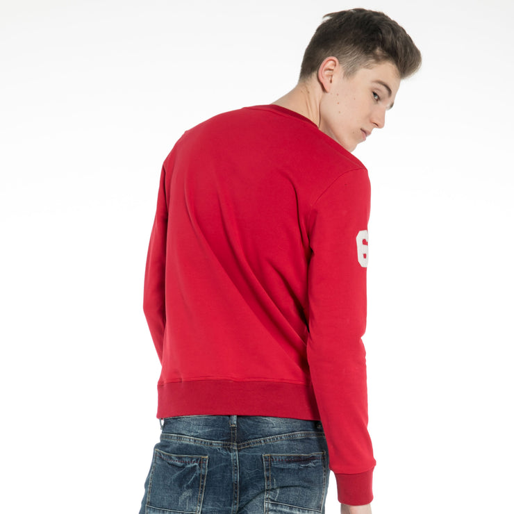 Sweatshirt for Men Long Sleeve Pullover Jumper with Printed Vintage Style Logo by Extreme Pop UK Stock