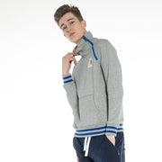 High Neck Dual-Zip Sweatshirt