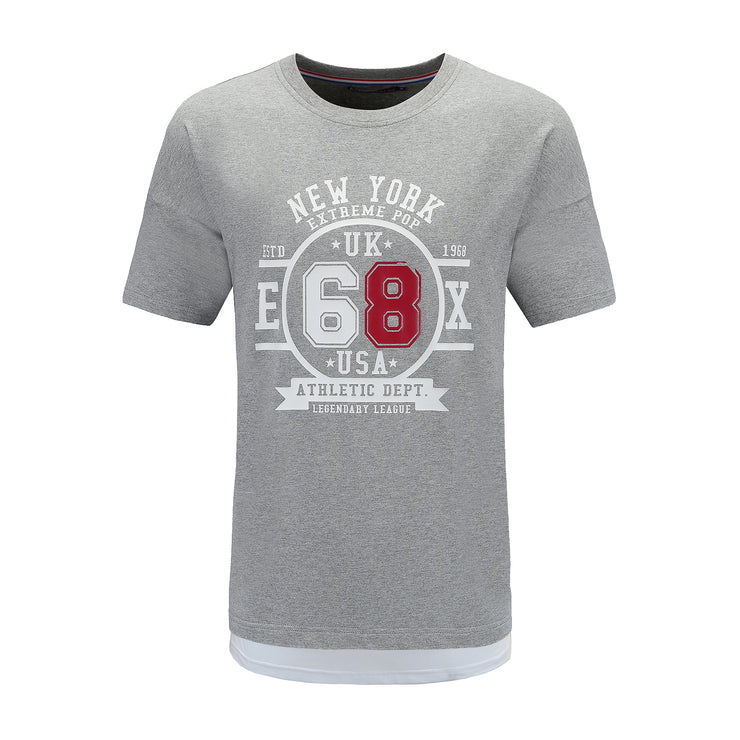 grey T-shirt front side
