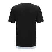 black T-shirt shoulder side