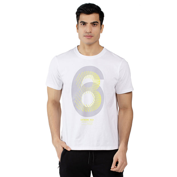 Mens Crew Neck Short Sleeve Geometric Print T-shirts