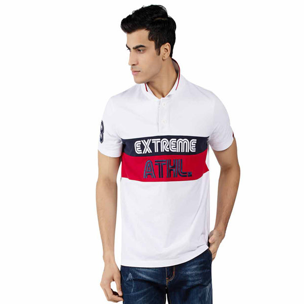 Men's Polo T-Shirt Colour Block Short Sleeve