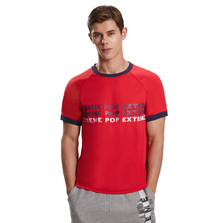 Extreme Pop Mens Raglan Sleeve T-shirts Summer Graphic Printed Sports Tops Dri-Fit UK Brand
