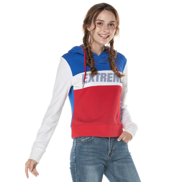Womens Sports Hoodie Sweatshirt  S M L XL Navy/Red/White Blue/White/Red