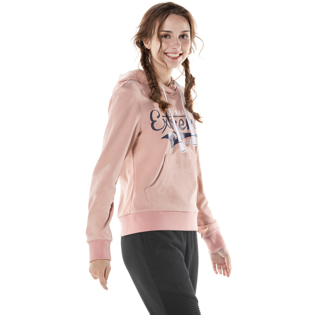Womens Print Hoodie  Cotton Stretch French Terry Slim Sweatshirt Ladies Girls Tops Jumper Sweater