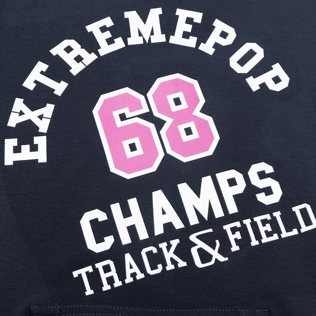 Women's Hoodie CHAMPS Sweatshirt S M L XL Navy Grey Pink