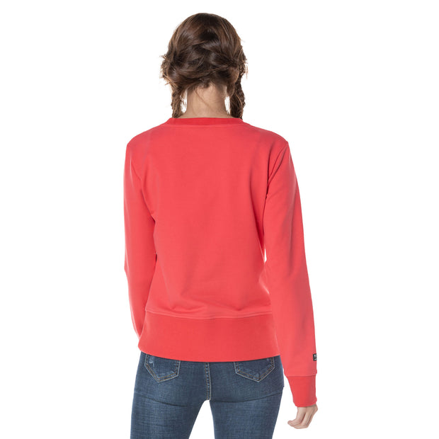 Women's French Terry Print Jumper  S M L XL Grey Red Light Grey