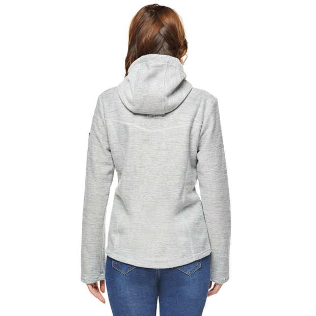 Women's Velour bond Heather Hoodie Jacket L.Grey
