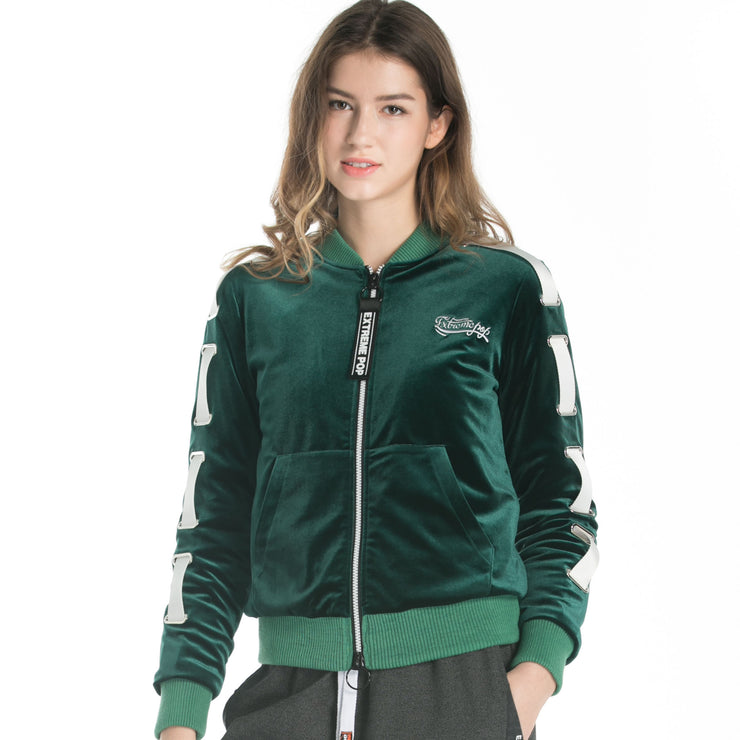 Velour Padded Zip-up Jacket