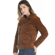 Corduroy Retro Zip-Up Padded Jacket