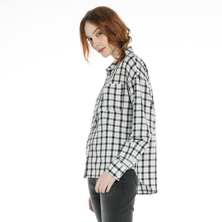womens Drop Shoulder check Shirts