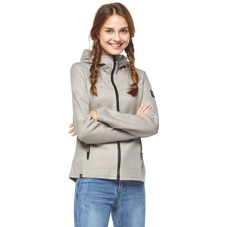 Women's Jacquard Bonded Zip-Up Jacket size S M L XL
