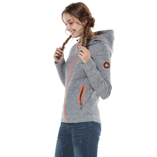 Women's Scuba Hoodie Sweatshirt S M L XL Grey Navy