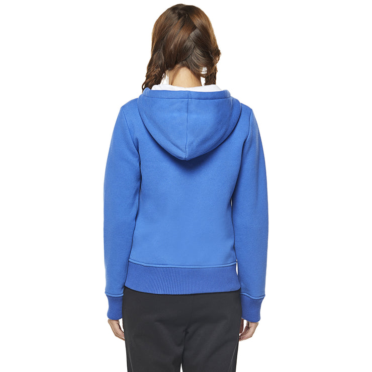 Women's Brushed Hoodie Sweatshirt blue size S M L XL