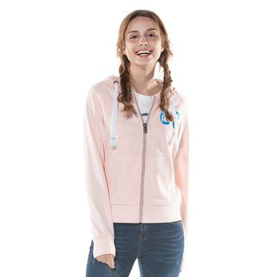 Womens Printed Zip-up Hoodie
