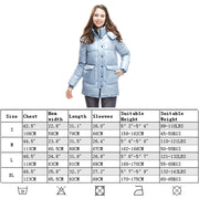 Womens Goose Down Jacket Glossy Parka Hooded Winter Windbreaker
