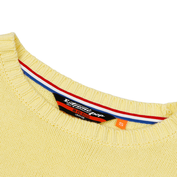 Women's Sweater 68 Twin Stripe Black 	White Yellow size S M L XL