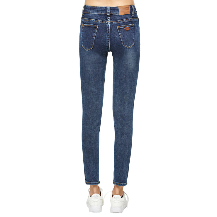 Slim Ripped Jeans-Black and Blue
