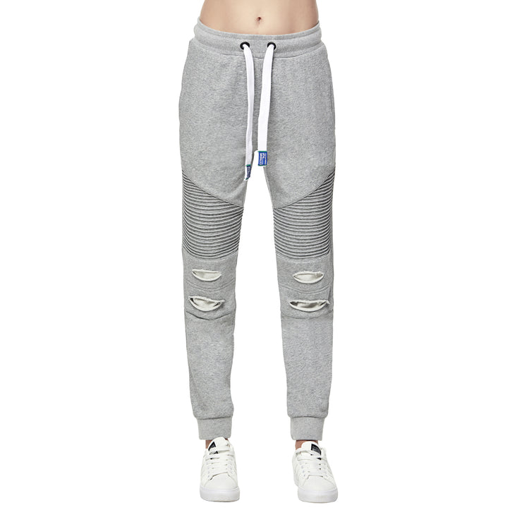 Women's Distress Ripped Joggers Grey size S M L XL