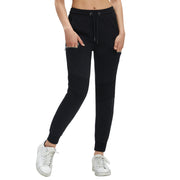 Womens Running Joggers Tracksuit Bottoms Pleated Knee