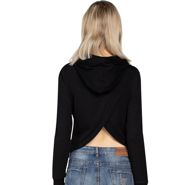 Women's fashion Hooded Sweatshirts Size S M L XL Black Grey